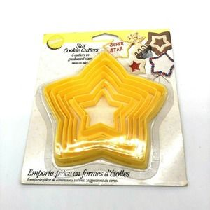 Vintage 1994 Wilton Set of 6 Nesting Star Cutters